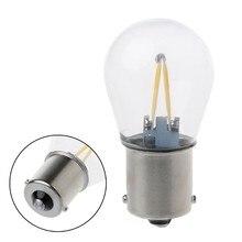Dc12v 1156 p21w ba15s lâmpada led cob luz running branco 2018