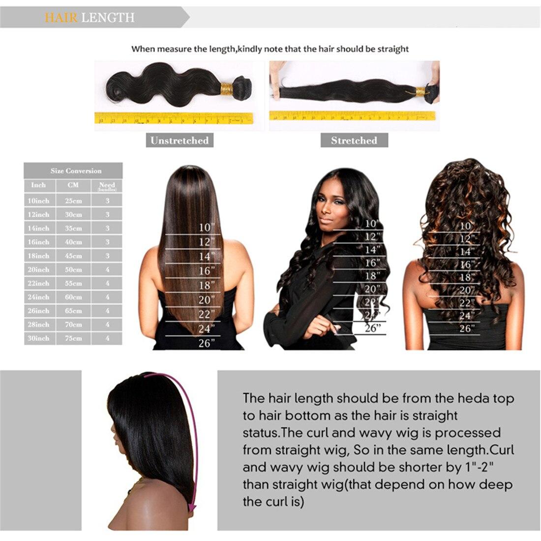 Bymc peruca de topper de cabelo humano