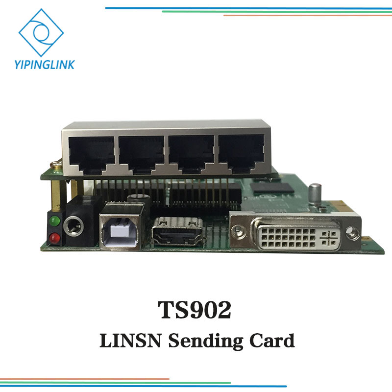 LINSN TS902 TS902D 4 ports output sending card bare card with 2.6 million pixels for led display screen