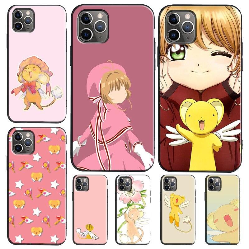 Kero chan Cardcaptor Sakura TPU Case For iPhone XR X XS Max SE 2020 6S 7 8 Plus 12 Pro mini 11 Pro Max Cover