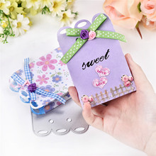 Naifumodo  Dies Cutting Triangle Box Candy Gift Metal for Scrapbooking Craft Card Embossing Diecut New Template