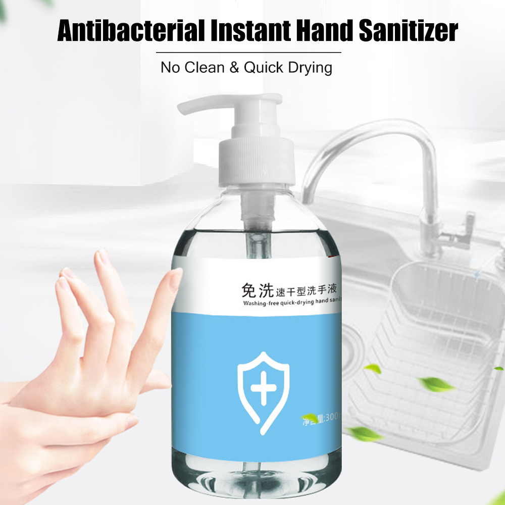 300ml Antibacterial Instant Hand Sanitizer Hand Disposable Hand Disinfectant No Clean Waterless Moisturizing Liquid Family