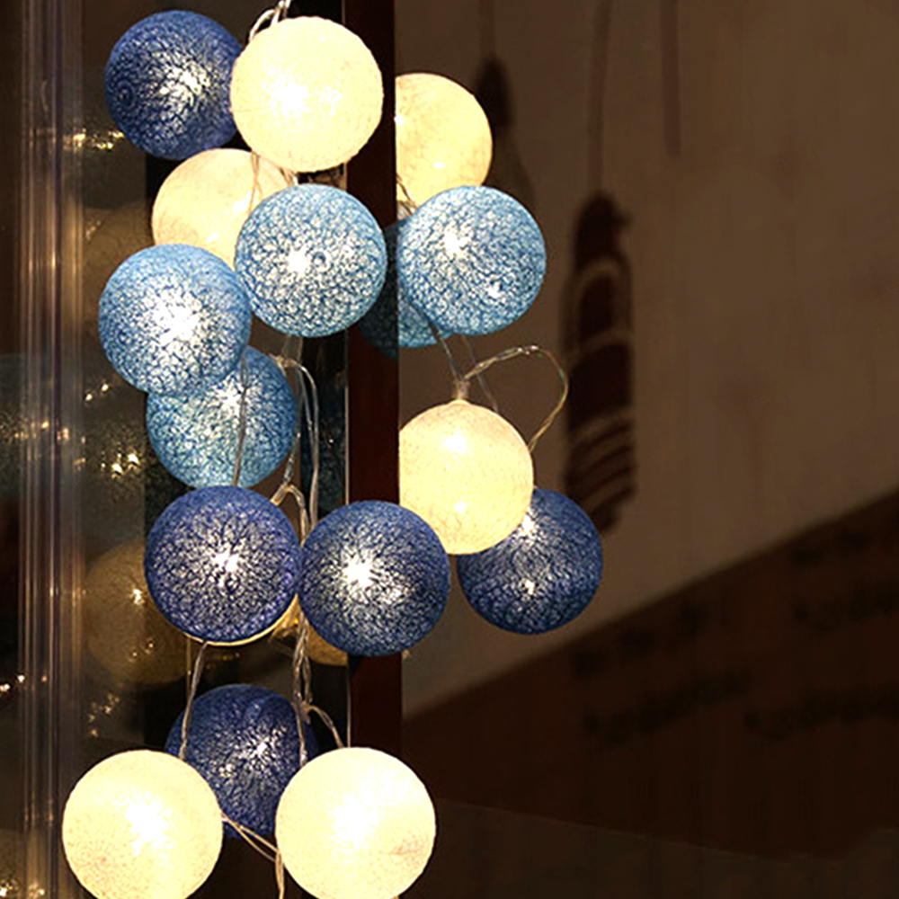 5M 20 LED Fairy Light String Garland Balls Christmas Xmas Halloween Holiday Wedding Party Lights Led Decoration EU Plug 220V JQ