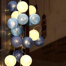 Guirnalda de bolas de 5M y 20 guirnalda de luces LED para Navidad, Halloween, fiesta de boda, luces Led de decoración, enchufe europeo, 220V, JQ