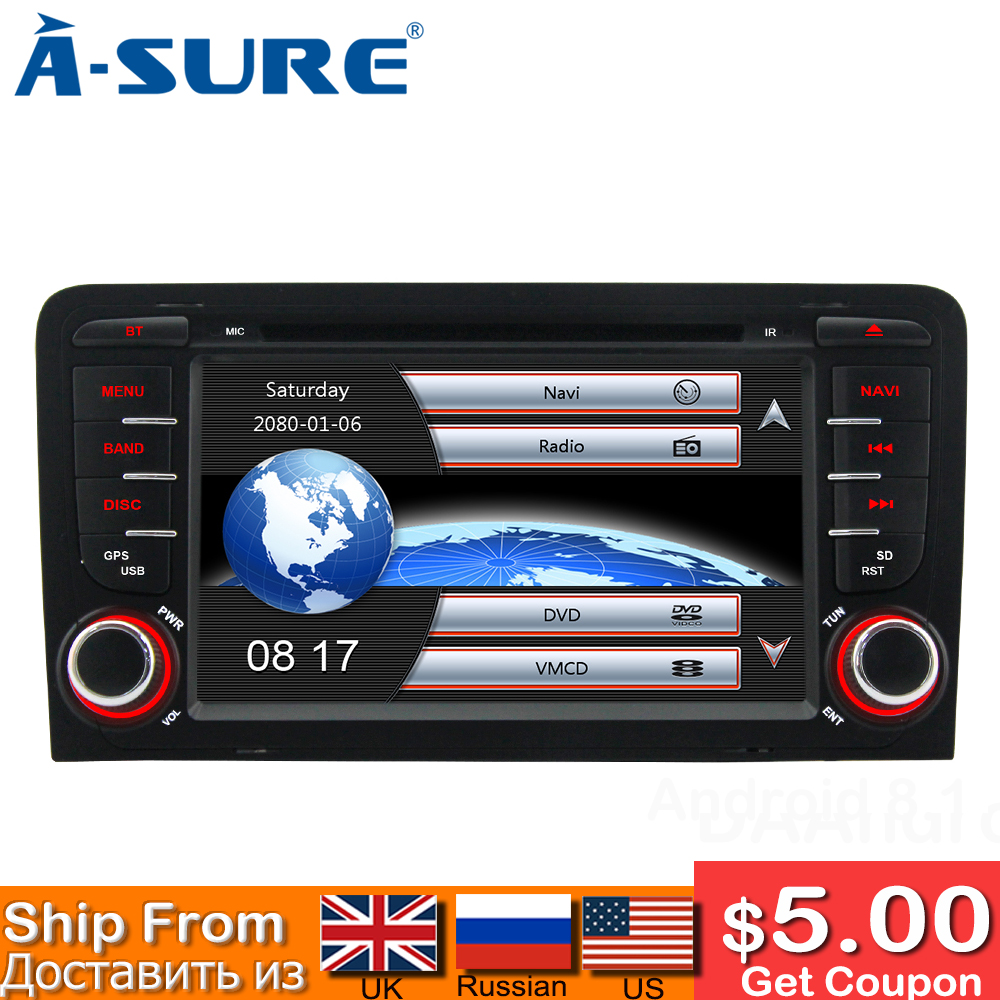 A-Sure 2 Din Car Radio DVD GPS- ը նստած էր մեքենայի - Ավտոմեքենաների էլեկտրոնիկա - Լուսանկար 1