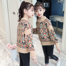 Get more info on the 2019 Autumn Winter Children's Clothes Teenage Girls Knitted Bohemian Vintage Style Sweater for Girl Big Kids 4 5 7 9 11 13Years