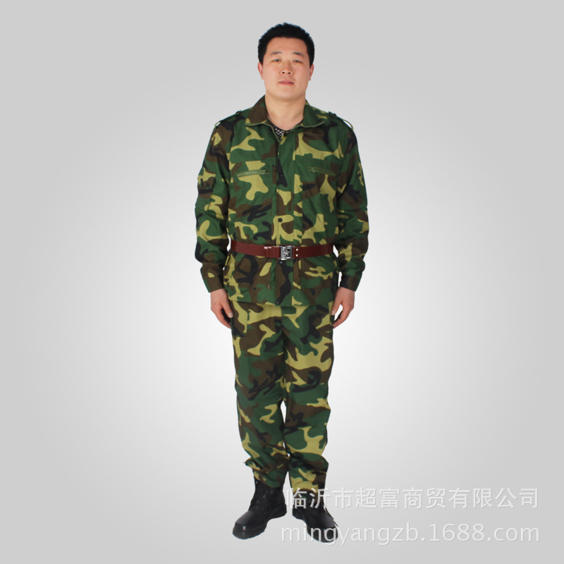 Grid Digital Jungle Lulin Arts&cralts Mi Cai Grid Anti-Tear Camouflage MEN'S Suit Outward Bound Training Suit Military Training