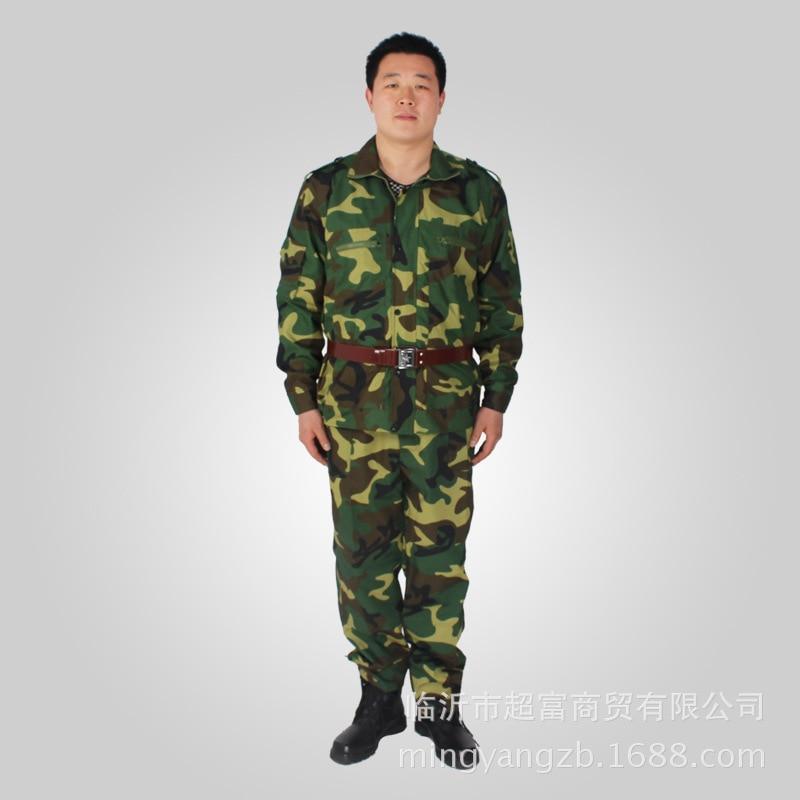 Grid Digital Jungle Lulin Arts&cralts Mi Cai Grid Anti-Tear Camouflage MEN'S Suit Outward Bound Training Suit Military Training