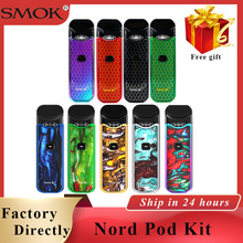 Resin Color Smok Nord Pod vape Kit Button-triggered Pod System with 1100mAh & 3ML Cartridge with Nord Mesh/Regular/Ceramic Coil pod vape smok nord kit 1100mah