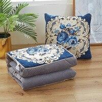 Chenille European Jacquard Pillow is versatile classical cushion blanket office air conditioning plush pillow cushion 45x45cm