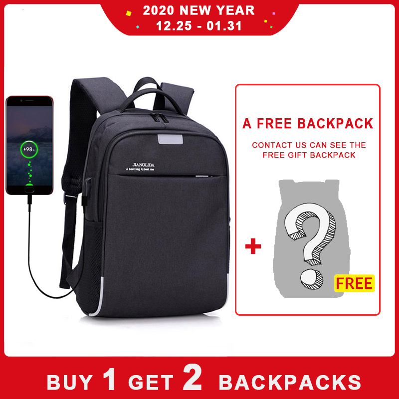 USB Charging Anti-Theft Mens Backpack Ruckpack Laptop Notebook Travel School Bag