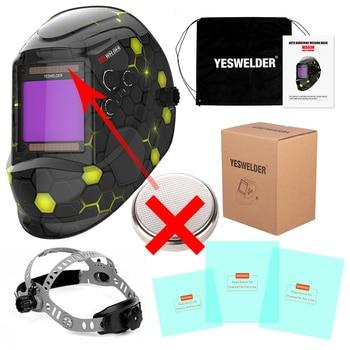 YESWELDER Large Screen Welding Mask True Color Welding Helmet Solar Auto Darkening Weld Hood without Battery 11