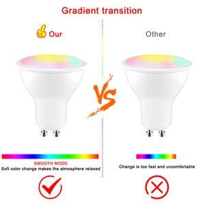 Image 5 - 8W IR télécommande GU10 RGB LED ampoule 85 265V atmosphère éclairage 16 couleurs modifiables lumières décoratives blanc chaud