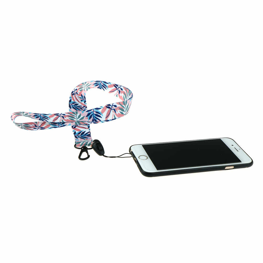 2018 Daun Segar Leher Tali Lanyard untuk Kunci Kartu Gym Kecil Ponsel Tali USB Lencana Pemegang Diy Tali Gantung lariat Lanyard