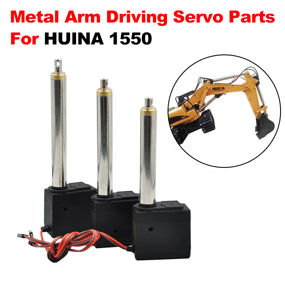 3 Pcs DIY Upgrade Metal Arm Driving Servo Parts For HUINA 1550 RC Crawler Car 15CH 2.4G 1:14 RC Metal Excavator Metal Arm Part(China)