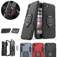Shockproof Armor Ring Case For iphone X XR XS Max Car Magnetic Holder Cover For iphone 7 8 plus 11 Pro Max Silicone Bumper Coque bumper case for iphone xs max xr x 10 8 7 6 se plus coque shockproof aluminum frame cover for iphonex protective border capinhas