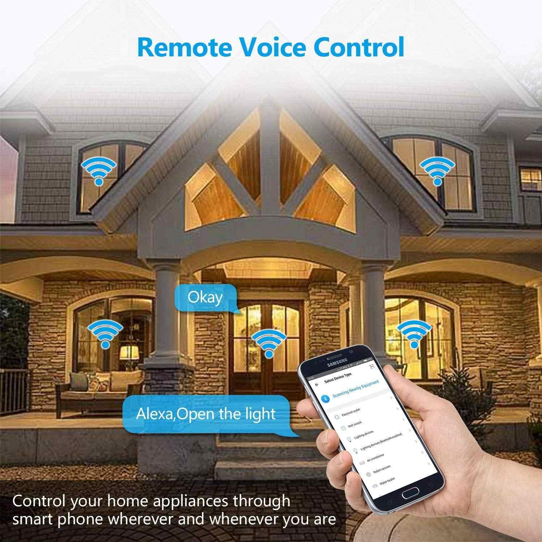 Power Strip Wifi Smart Plug Homekit 3 Eu Socket Overspanningsbeveiliging Afstandsbediening Outlet Met 2M Verlengsnoer Onafhankelijke schakelaar