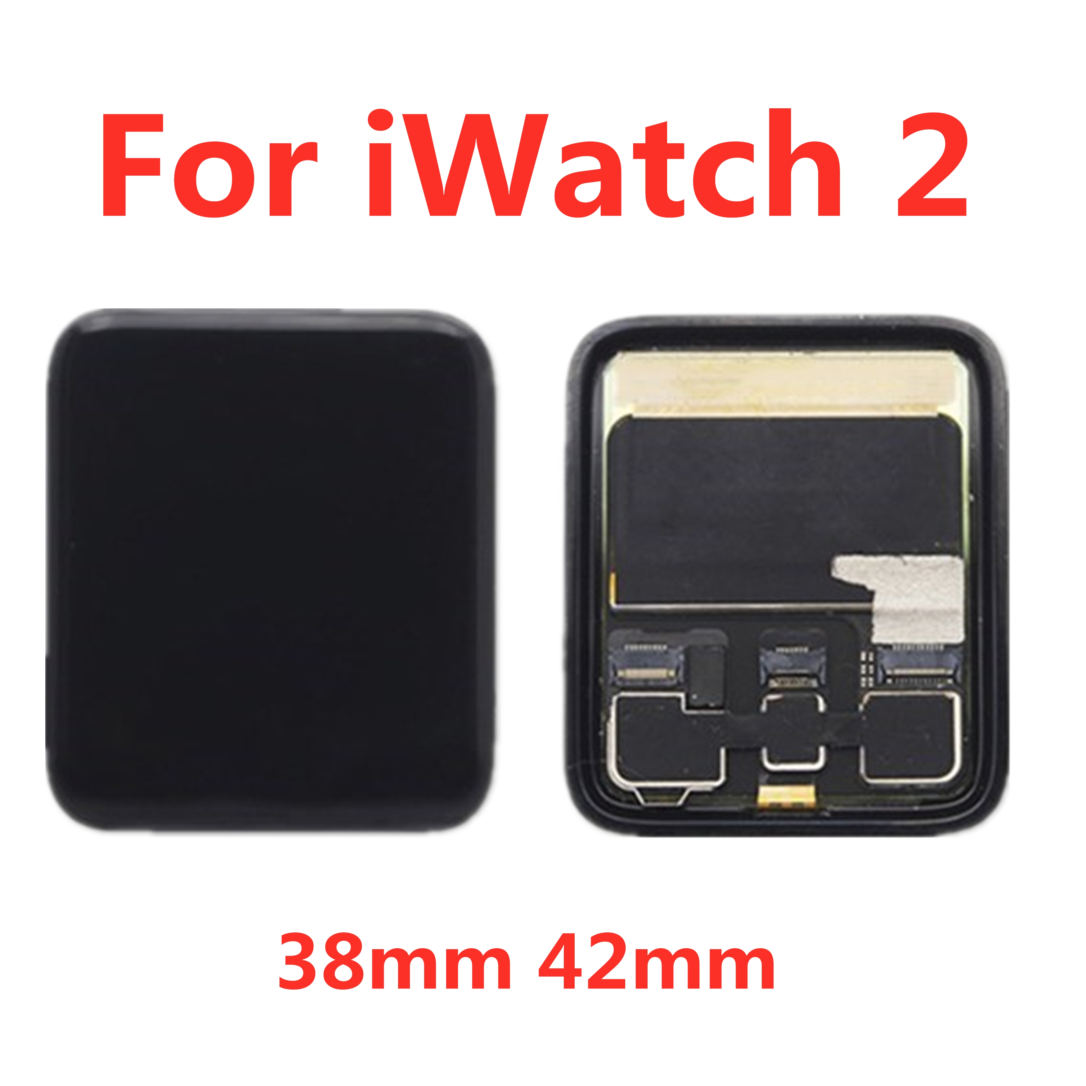 For Apple Watch Series 2 LCD Display Touch Screen Digitizer Replacement 38mm/42mm Series2 S2 A1757 A1758 A1816 A1817 LCD image
