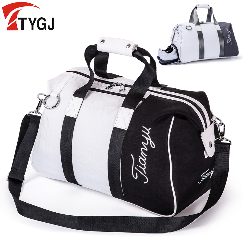 2in1 Golf Clothing&shoes Bag with Shoes Layer Nylon Large Capacity Golf Clothing Bag for Outdoor Sport Golf Travel Package