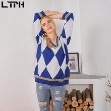 Ltph 2020new прибытие Осень Зима винтажные геометрические сплайсинга