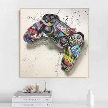 Граффити искусство геймпад Искусство Холст Плакаты и печать