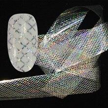 Adesivo holográfico para unhas, decoração de unha brilhante, tendência doce, 100x4cm, laser estrelado, linha para unha artística, acessórios para decoração laxk80