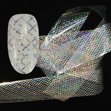 SWEET TREND 100x4cm Holographic Starry Nail Foil Laser Line Nail Art Transfer Sticker Shiny Nail Decorations Accessories LAXK80