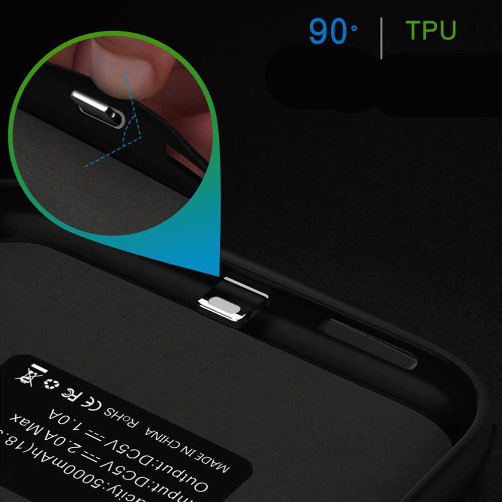 شحن البطارية حقيبة لهاتف أي فون 11 برو ماكس الطاقة الخارجية حالات 6000mAh غطاء شاحن ل فون 11 برو بطارية خزان الطاقة كوف