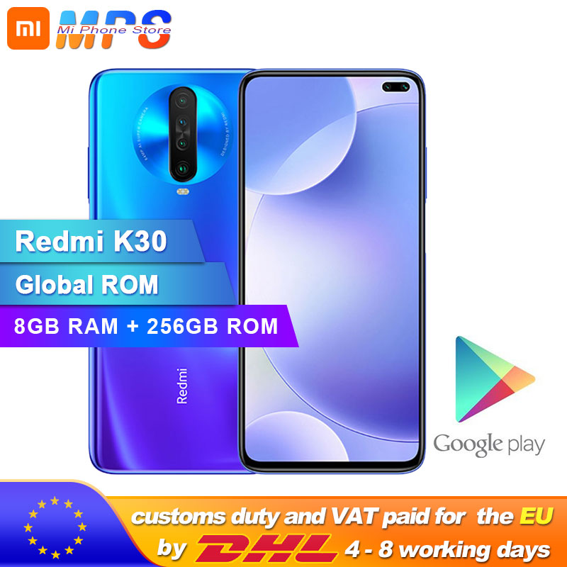 Rom global xiaomi redmi k30 8 gb 256 gb 4g smartphone snapdragon 730g octa núcleo 64mp câmera 120 hz display fluido 4500 mah