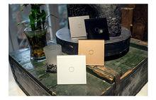 Livolo luxus Wand Touch Sensor Schalter, EU Standard Licht Schalter, schalter power, Kristall Glas, 1Gang 1Way Schalter, 220-250, C701-1/2/5