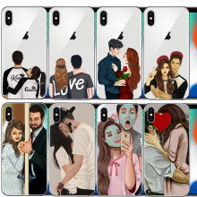 best friend forever lovers couple cell phone Cover case For iphone 6 6S 7 8 Plus 5S 5 SE X XR XS Max 10(China)