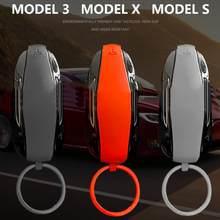 Borracha de silicone carro chave proteção fob protetor capa caso para o modelo 3 s x remoto keyless