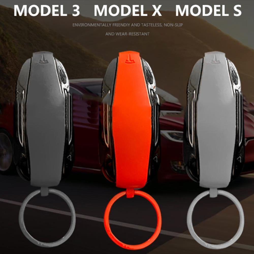 Silicone Rubber Car Key Protection Key Fob Protector Cover Case For Tesla Model 3 S X Remote Keyless