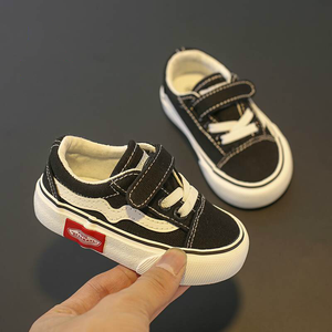 Image 5 - Baby Shoes Soft Bottom Boy Casual Shoes 1 3 Years Old 2020 autumn Winter Children Canvas Shoes Girls Walking Shoes Toddler boots