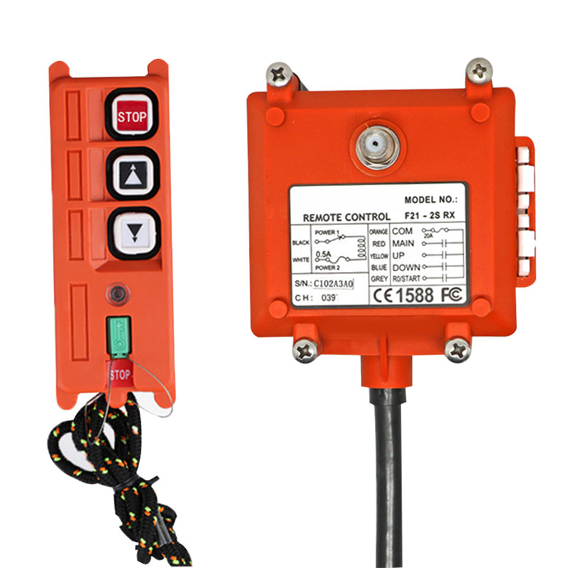 Professional Industrial Crane Wireless Remote Control F21-2S 1 Transmitter 1 Receiver For Hoist Crane AC / DC Both Applicable