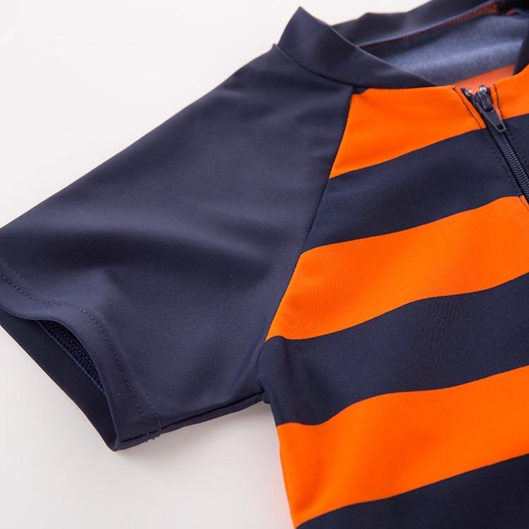 Men's Two-piece Swimsuits Orange Black Stripes Hippocampus-KID'S Swimwear Hot Springs Clothing