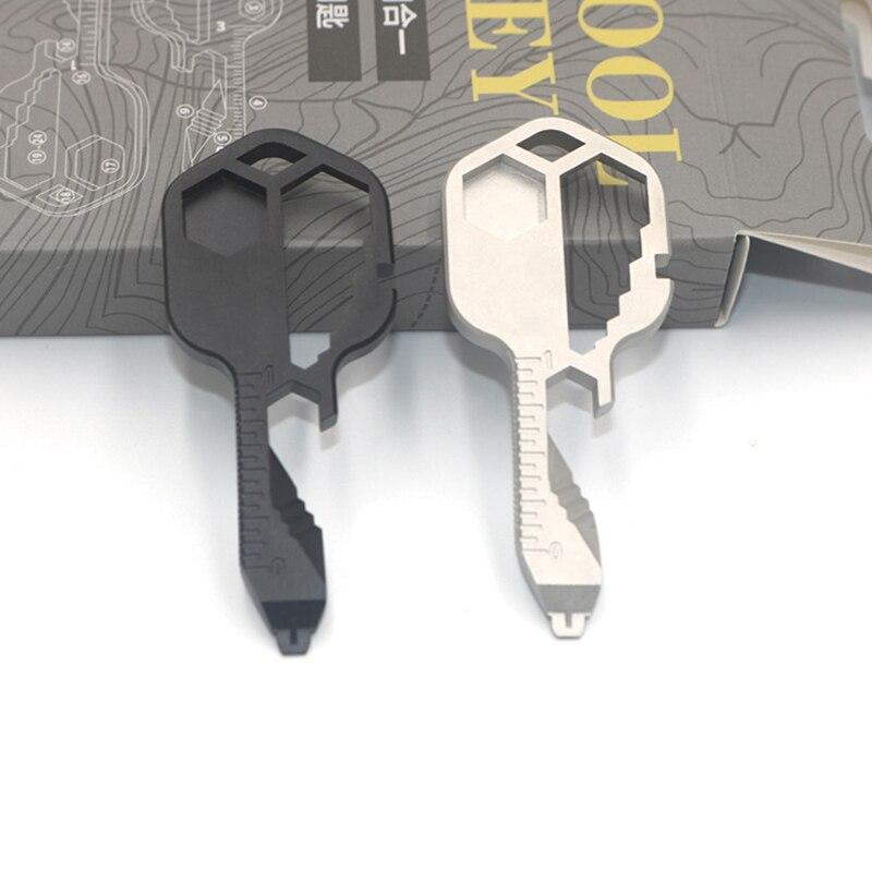Taşınabilir 24 in 1 çok anahtar açık acil taşınabilir vücut ekipmanları tornavida anahtarlık kolye onarım aracı Gadget kampı