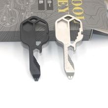 Przenośny 24 w 1 Multi Key Outdoor Emergency przenośny sprzęt ciała śrubokręt kluczowy łańcuszek wisiorek narzędzie do naprawy gadżet Camp