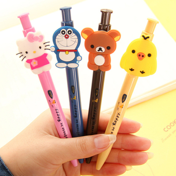 цена 1pcs/lot Kawaii Japan Cartoon Animal Design ballpoint Pen 0.5mm Ball Pen School Office Supplies Stationery онлайн в 2017 году