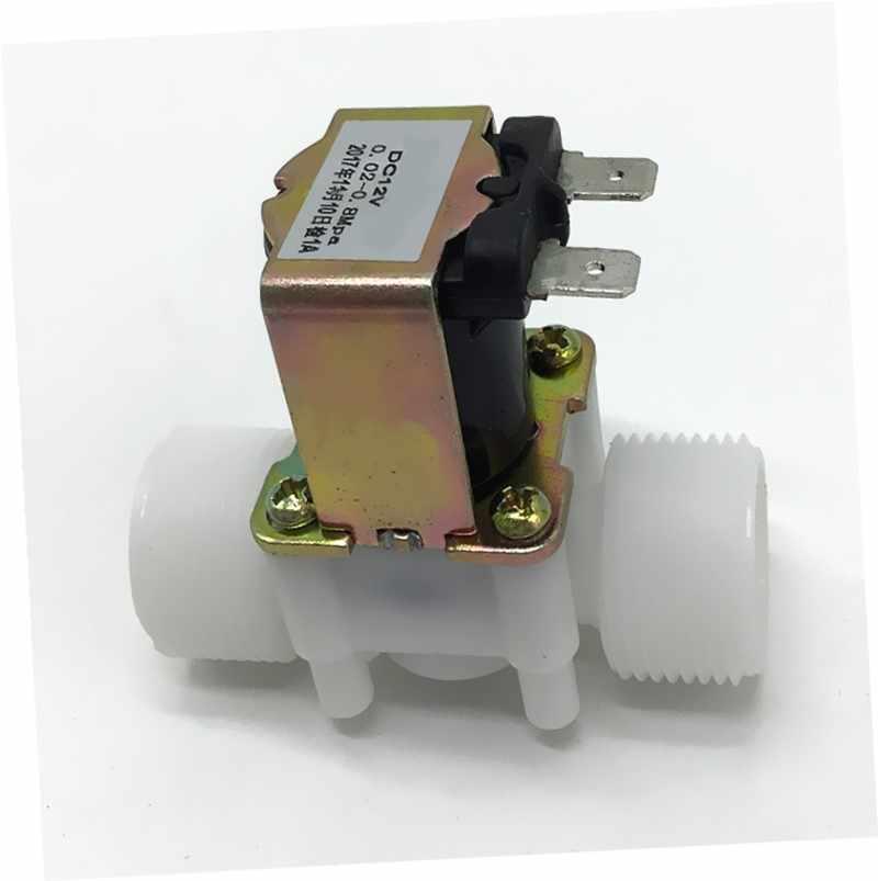 DC 12V Kunststoff-Magnetventil Wasser Luft Luft 1//2 normal geschlossen G3E9