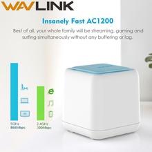 Router WiFi inalámbrico Wavlink sistema de cobertura Wifi de malla para el hogar 1200Mbps 2,4G/5 GHz WiFi repetidor inalámbrico APP control remoto UE