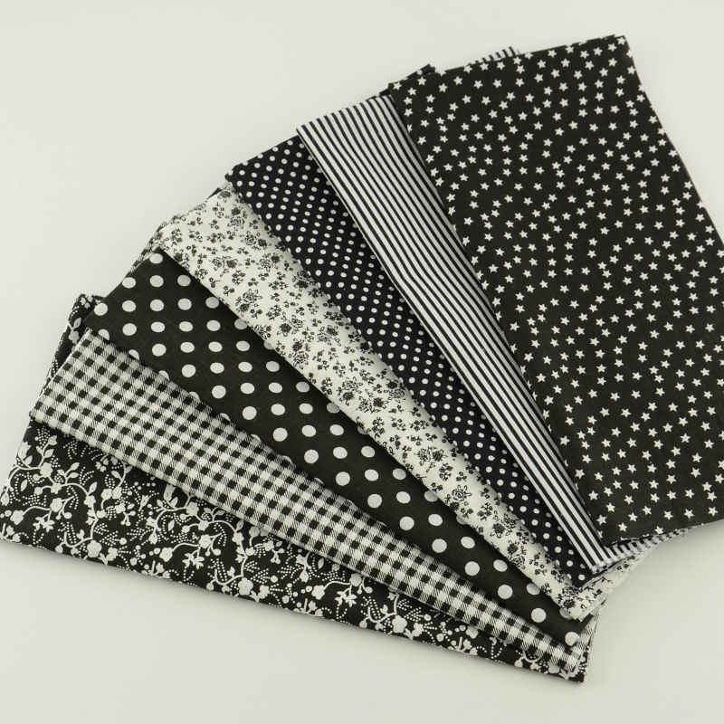 FREE SHIPPING 7 pieces 50cm*50cm Cotton Fabric Fat Quarter Bundle Vintage Brown Quilting Patchwork Tilda Sewing cheap fabrics
