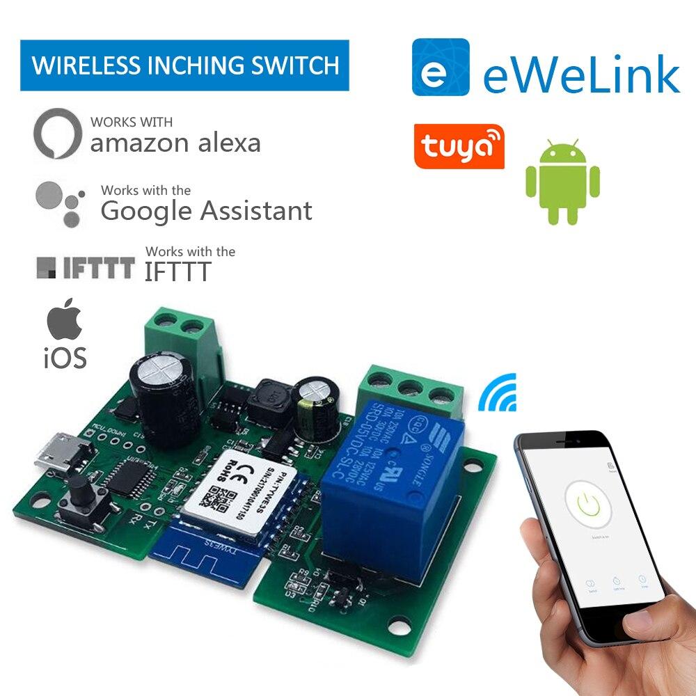 Tuya smart home Graffiti commutateur de Point à sens unique commutateur Intelligent relais Wifi Module sans fil synchronisation télécommande intelligente Contro à distance