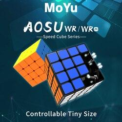 Najnowszy MoYu aosu WR 4x4x4 59mm kostka i WRM 4x4 magnetyczna magiczna kostka łamigłówka profesjonalna WR M prędkość kostki edukacyjne zabawki dla dzieci w Magiczne kostki od Zabawki i hobby na
