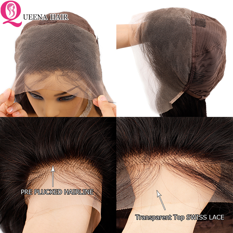 Image 2 - Transparent Lace Front Human Hair Wigs For Black Women Peruvian Straight Lace Frontal Wig Pre Plucked Remy 13x4 front lace Wigs-in Human Hair Lace Wigs from Hair Extensions & Wigs
