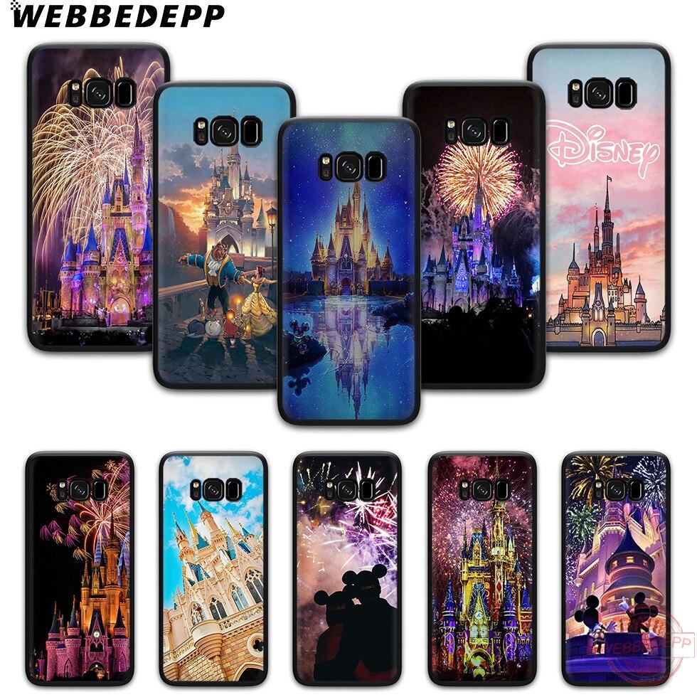 WEBBEDEPP Disney Castle TPU Phone Case for Samsung S6 S7 edge S8 S9 S10 Plus S10e Note8 9 note 10 Plus