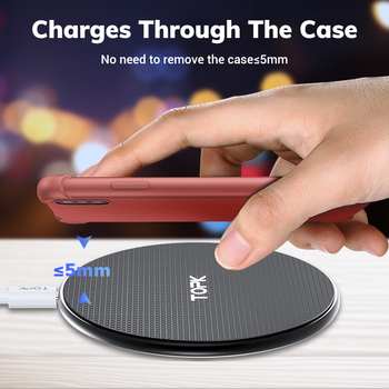 Wireless Charger for iPhone Xs Max X 8 Plus 10W Fast Charging Pad for Samsung Note 9 Note 8 S10 Plus 4