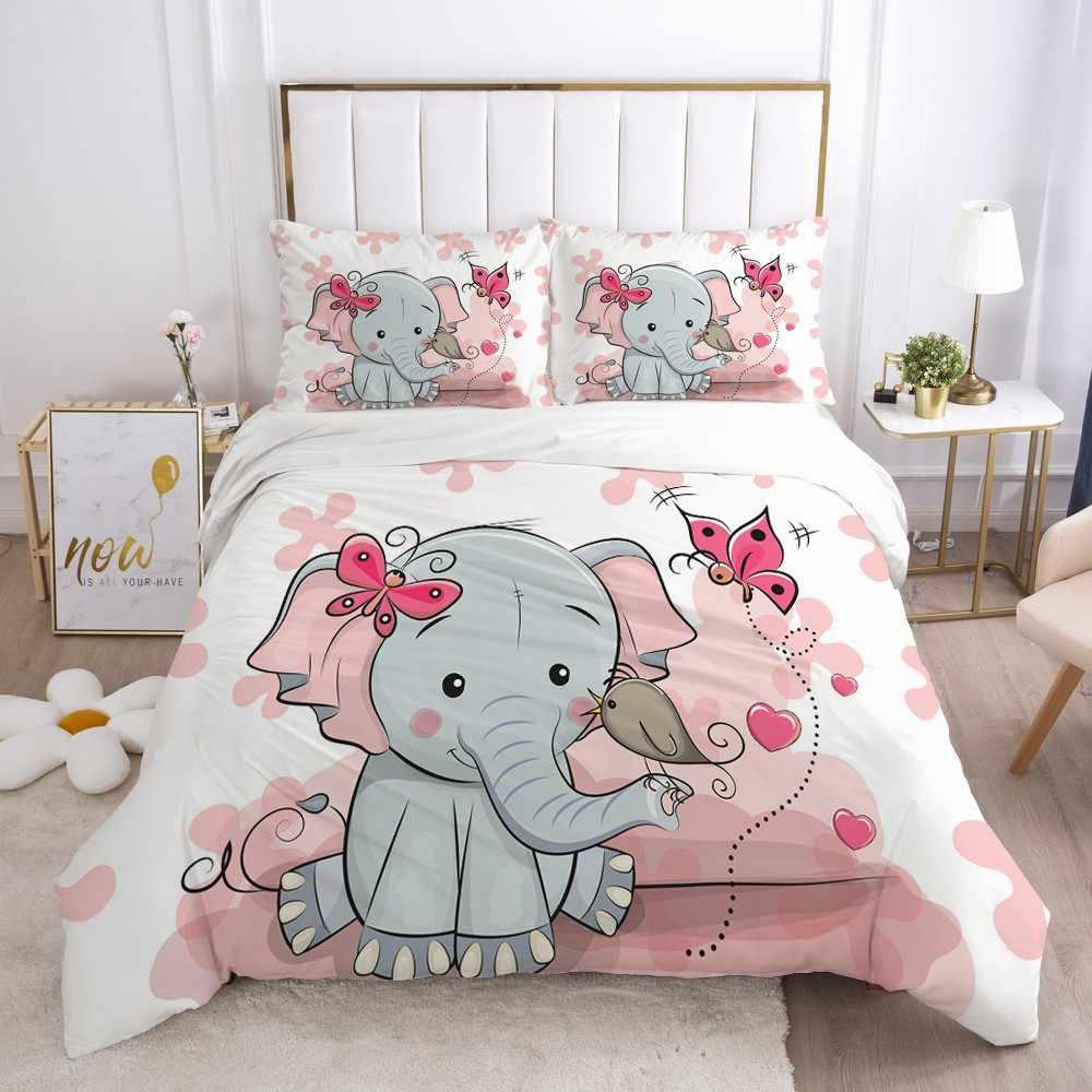 girls elephant bedding