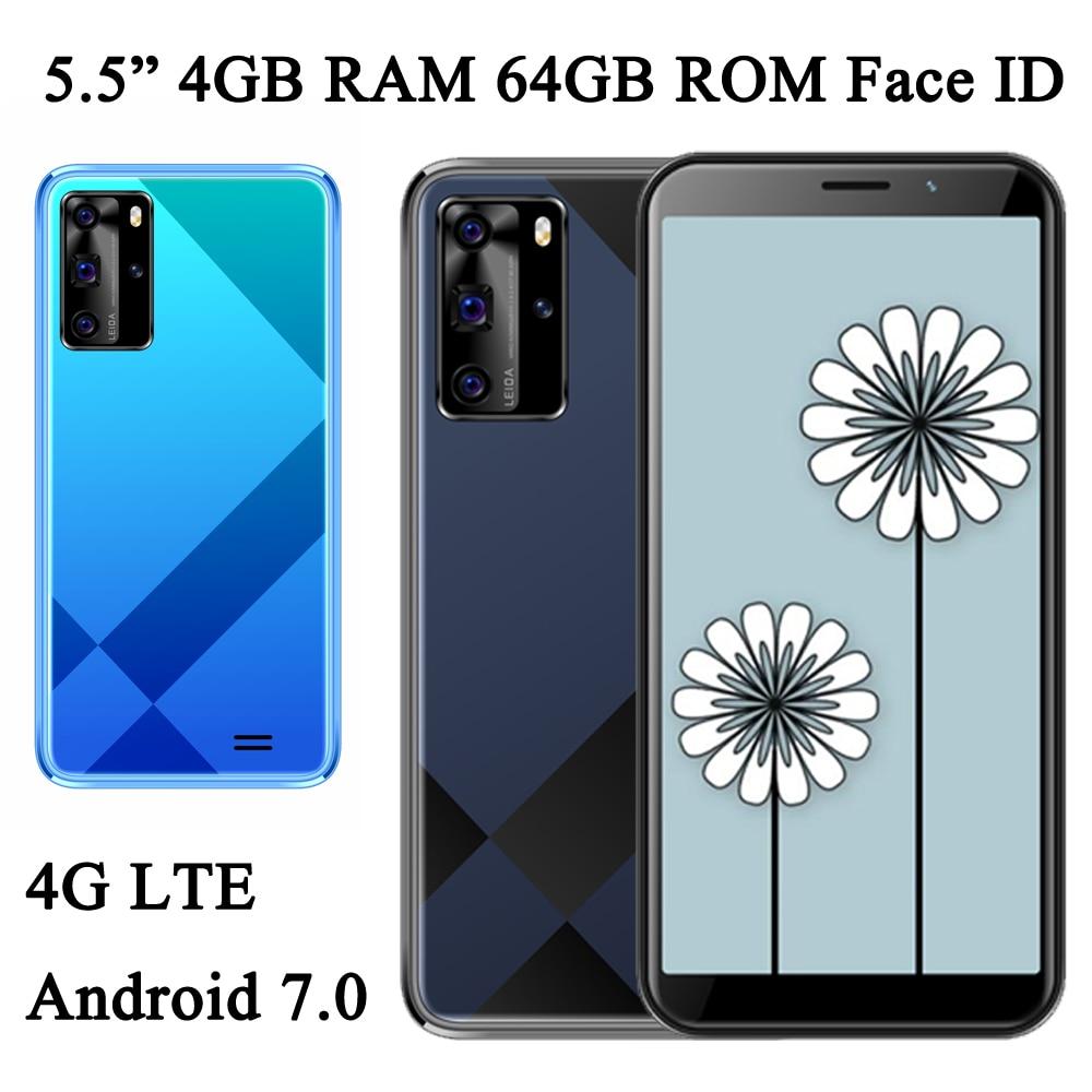 Глобальные смартфоны 6A 4G LTE, фронтальная/задняя камера, Android 7,0, 4 Гб ОЗУ, 64 Гб ПЗУ, 5 Мп + 13 МП, распознавание лица, 5,5 дюйма, разблокированные моби...