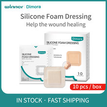 Winner Silicone Wound Foam Dressing with Border Adhesive Waterproof Wound Dressing SAF Sterile Wound Care Large Band-Aid 10pcs